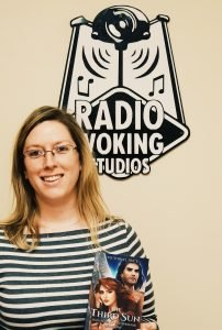 Victoria J. Price at Radio Woking studios